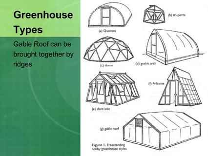 انواع سازه های گلخانه