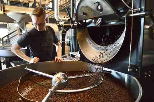 تصویر خط فراوری قهوه