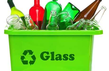 تصویر ضایعات شیشه جهت بازیافت