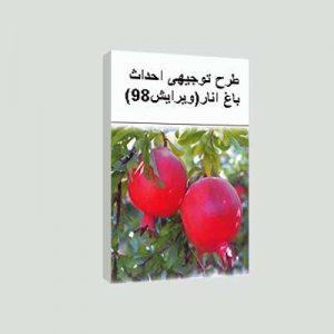 طرح توجیهی احداث باغ انار (ویرایش سال 98)