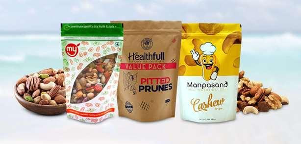 انواع بسته بندی خشکبار و مواد غذایی