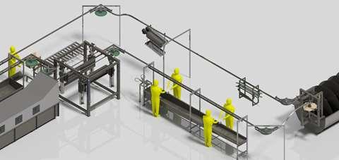 تصویر خط تولید کشتارگاه صنعتی طیور