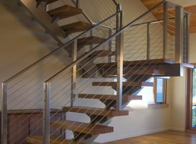 روش توليد نرده و پله آماده ساختمان